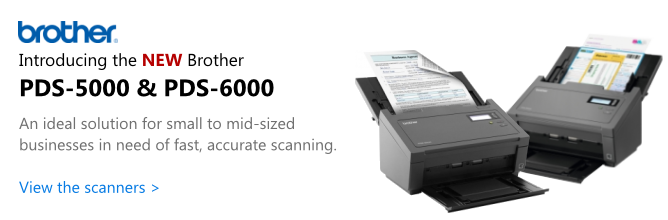 New Brother PDS-5000 & PDS-6000 Scanners